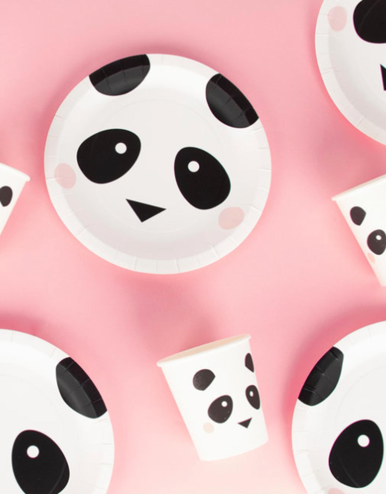 My Little Day Papieren bordjes panda | 8 stuks
