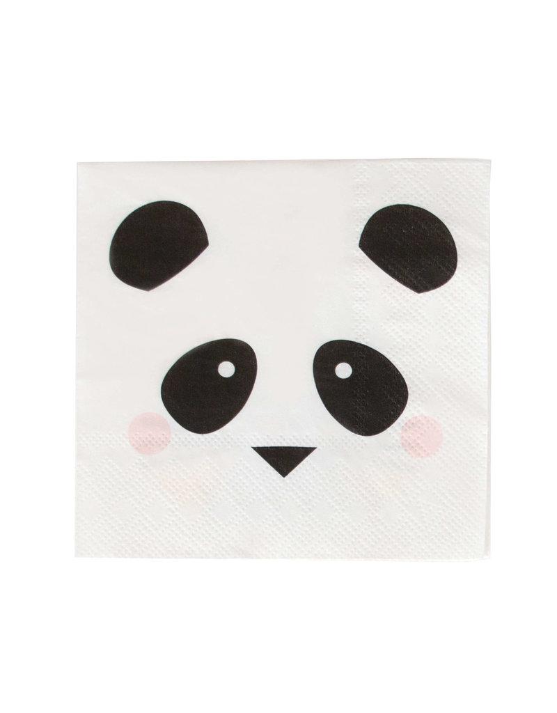 My Little Day Servetten panda print | 20 stuks