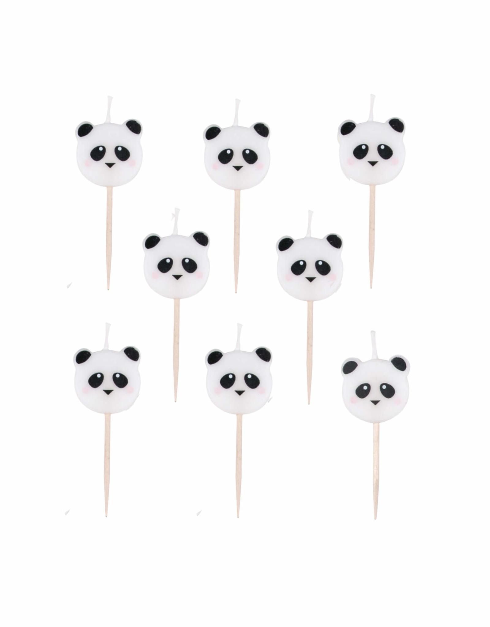 My Little Day Kaarsjes panda | 8 stuks