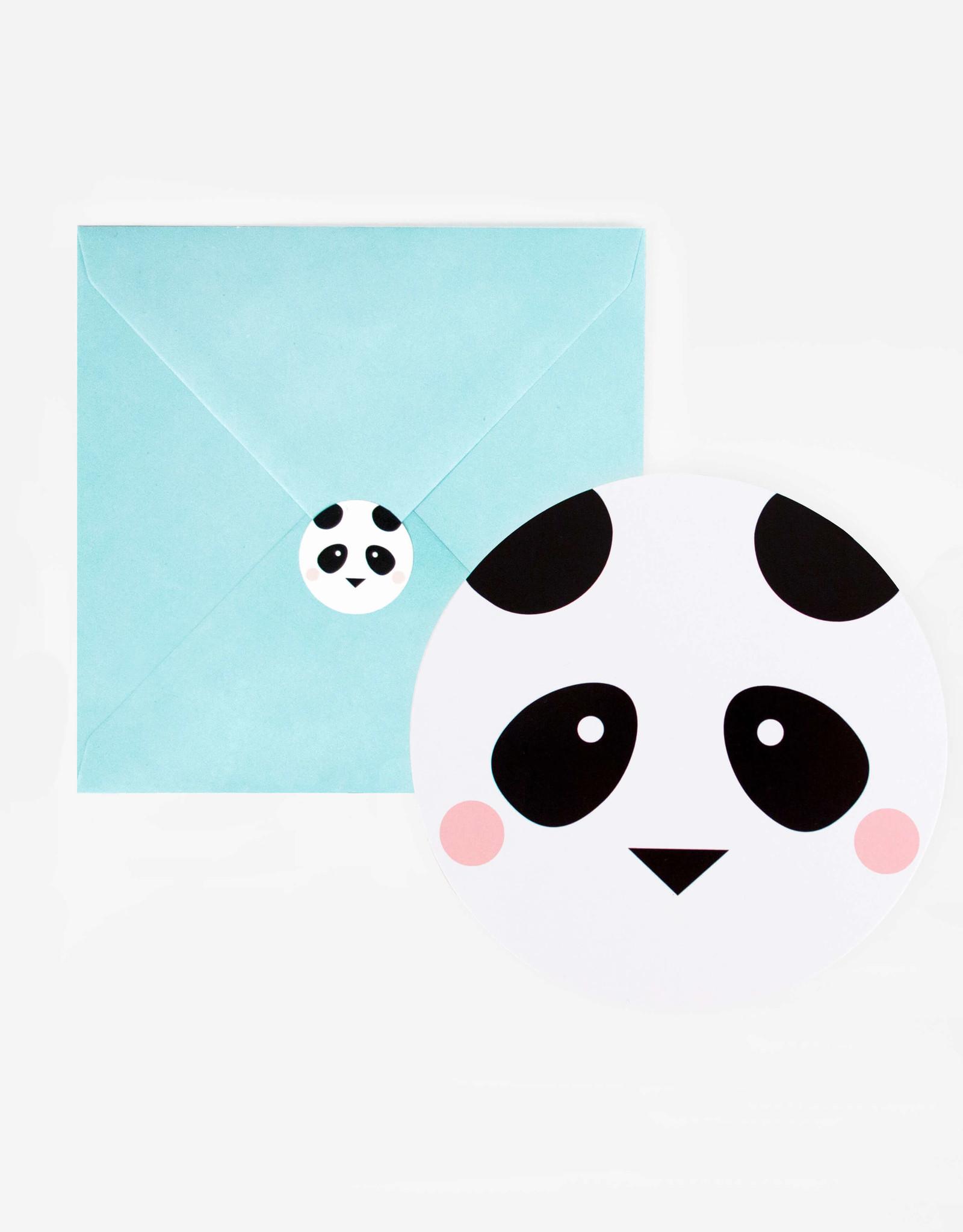 My Little Day Uitnodigingen kinderfeestje panda | 8 stuks