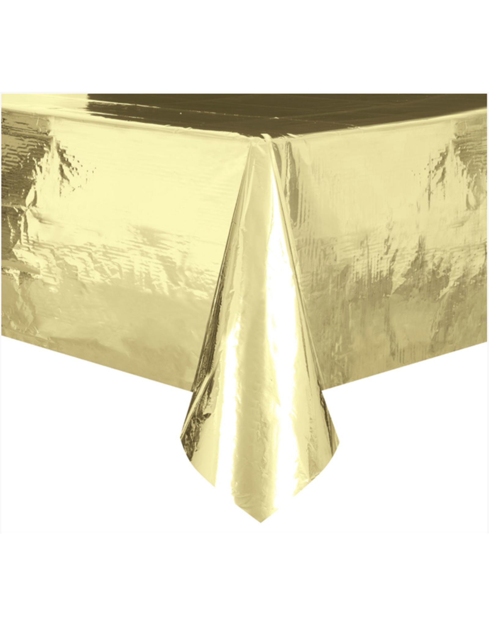 HAZA Gouden tafelkleed folie | 137 x 274 cm