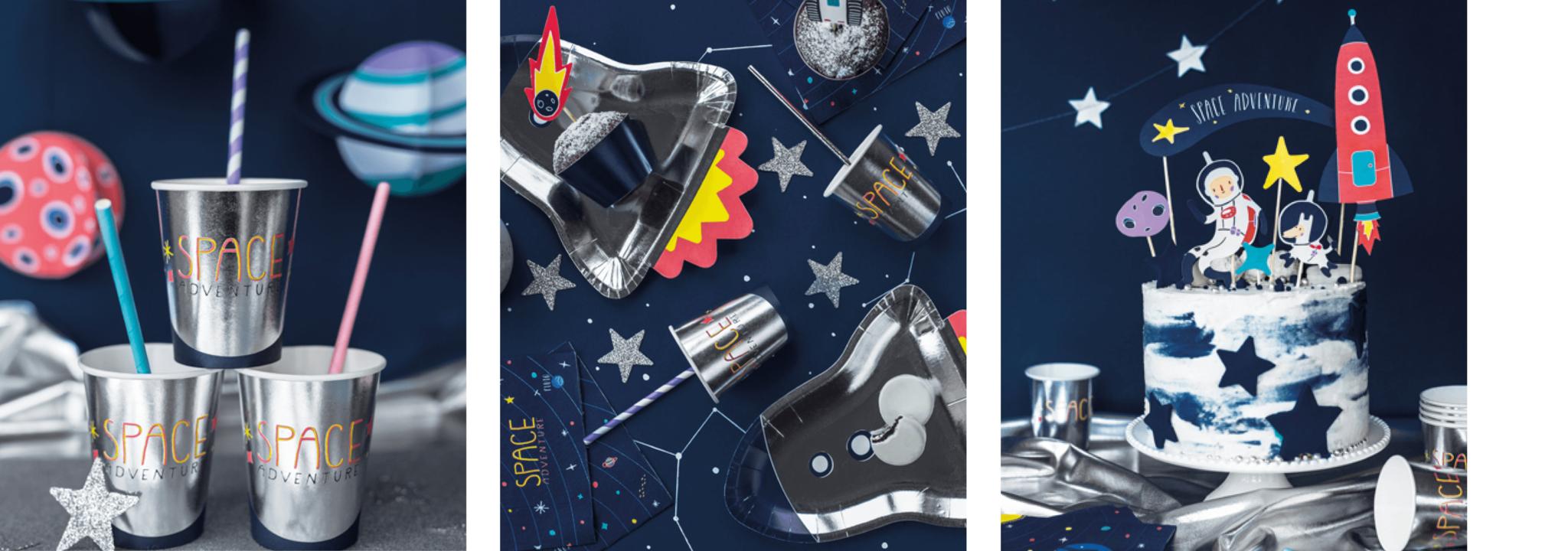 Kinderfeestje thema space astronauten