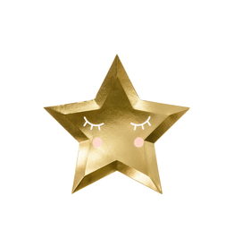 PartyDeco Bordjes little star goud | 6st