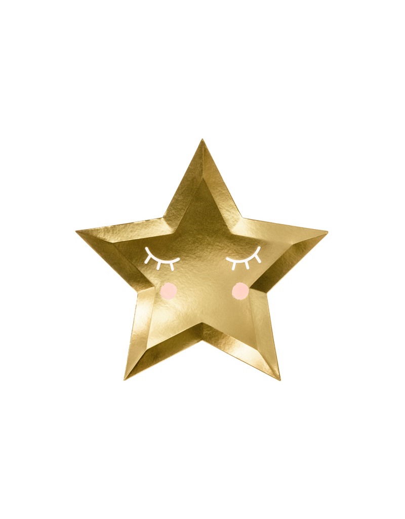 PartyDeco Bordjes little star goud | 6 stuks