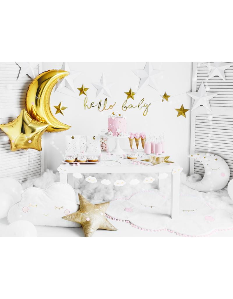PartyDeco Folie ballon maan goud | 60 cm