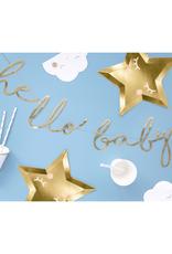 PartyDeco Slinger 'hello baby' goud | 70 cm