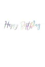 PartyDeco Slinger 'Happy birthday' iriserend | 62 cm