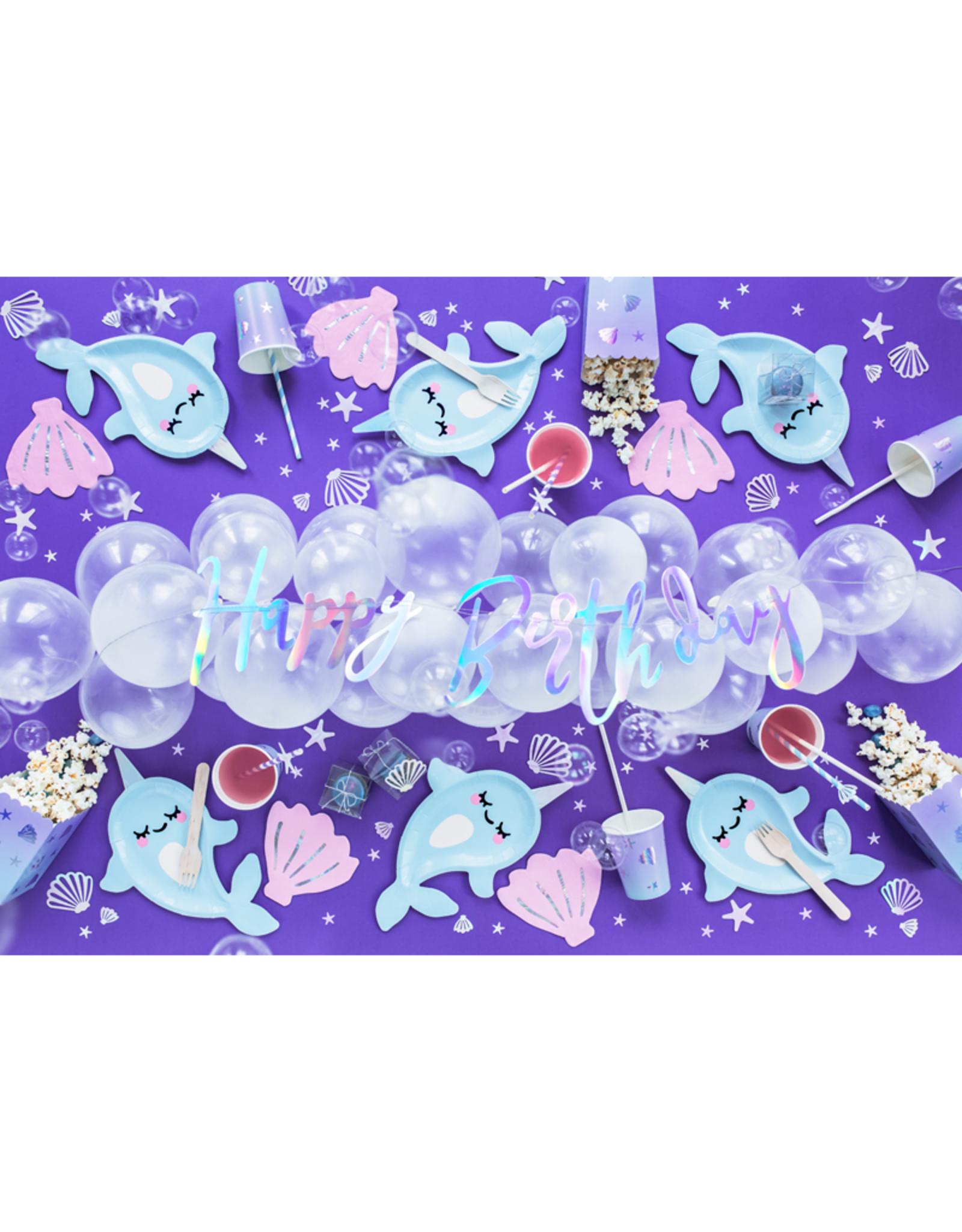 PartyDeco Popcorn bakjes onderzee wereld | 6st