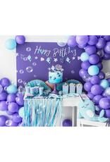 PartyDeco Backdrop feestgordijn blauw