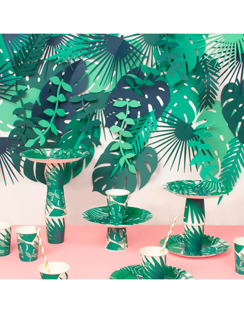 My Little Day Papieren bekertjes tropical leaves | 8 stuks
