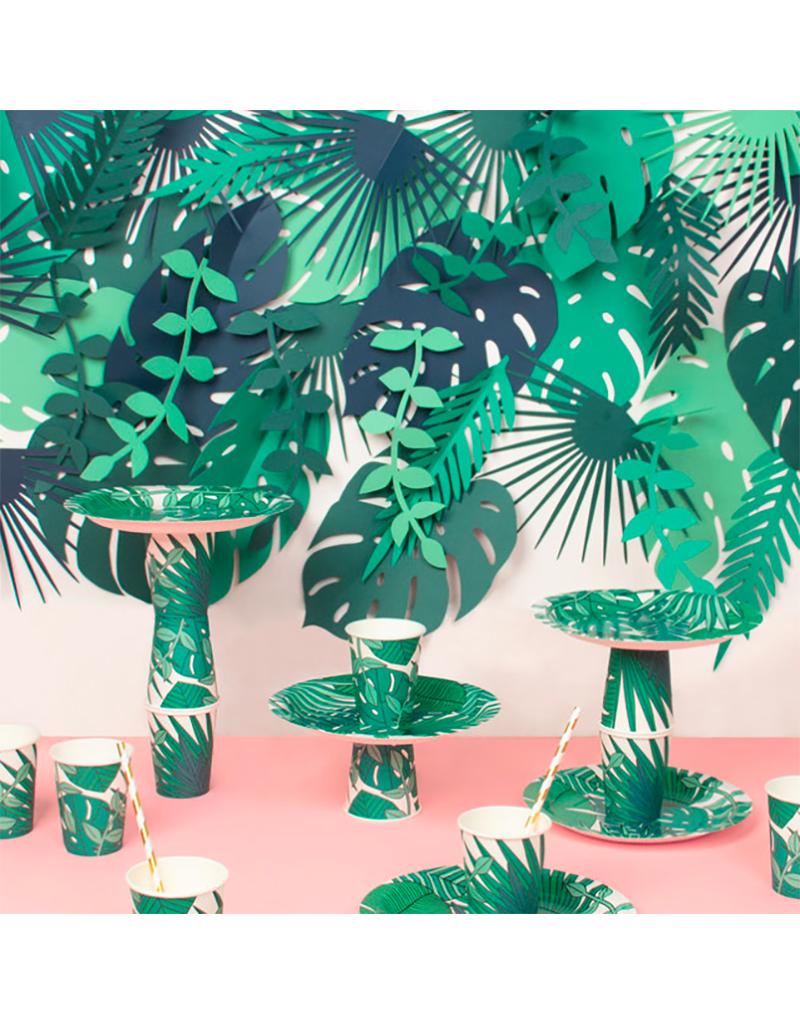My Little Day Papieren bordjes tropical leaves | 8 stuks