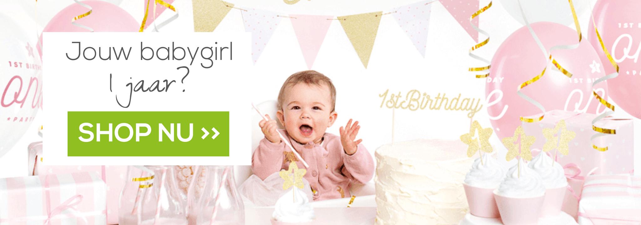 Versiering verjaardag meisje 1 jaar