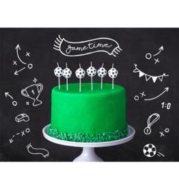 PartyDeco Kaarsjes voetbal | 6st
