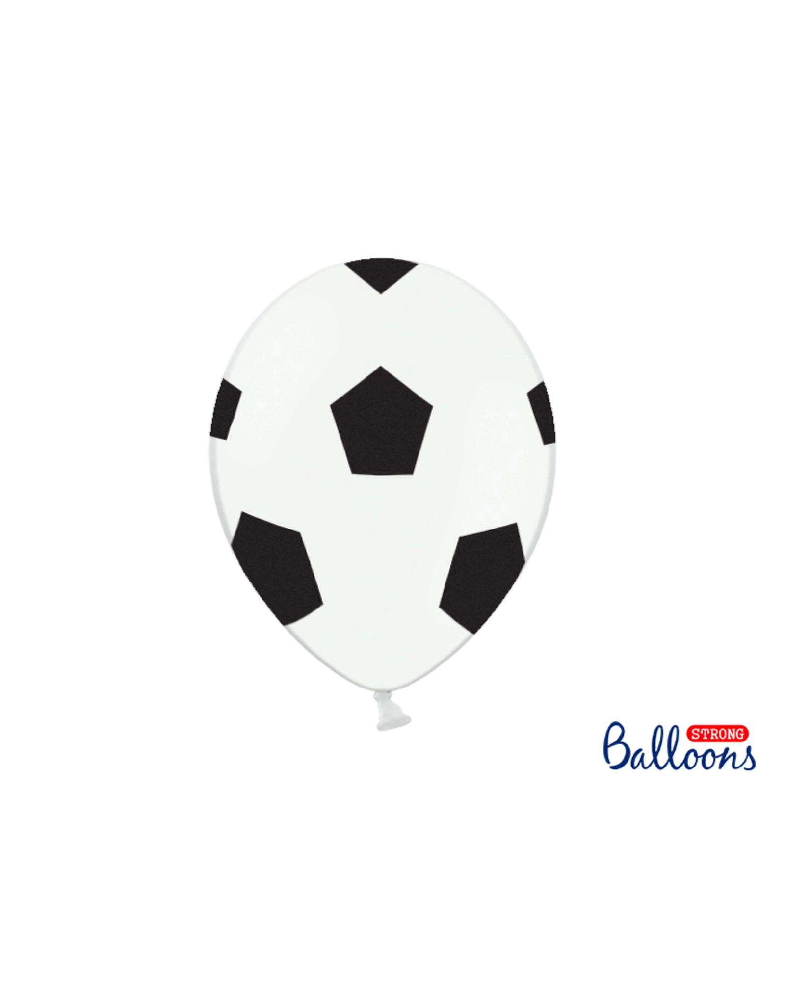 PartyDeco Ballonnen voetbal print | 6 stuks