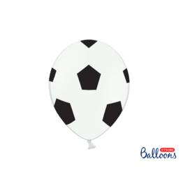 PartyDeco Ballonnen voetbal print | 6st