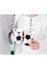 PartyDeco Papieren bekertjes voetbal | 6 stuks