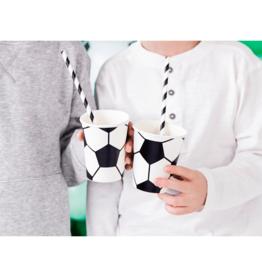 PartyDeco Papieren bekertjes voetbal | 6st