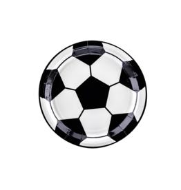 PartyDeco Papieren bordjes voetbal | 6st