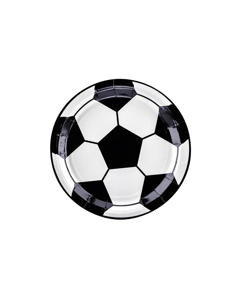 PartyDeco Papieren bordjes voetbal | 6 stuks