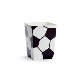 PartyDeco Popcorn bakjes voetbal | 6st