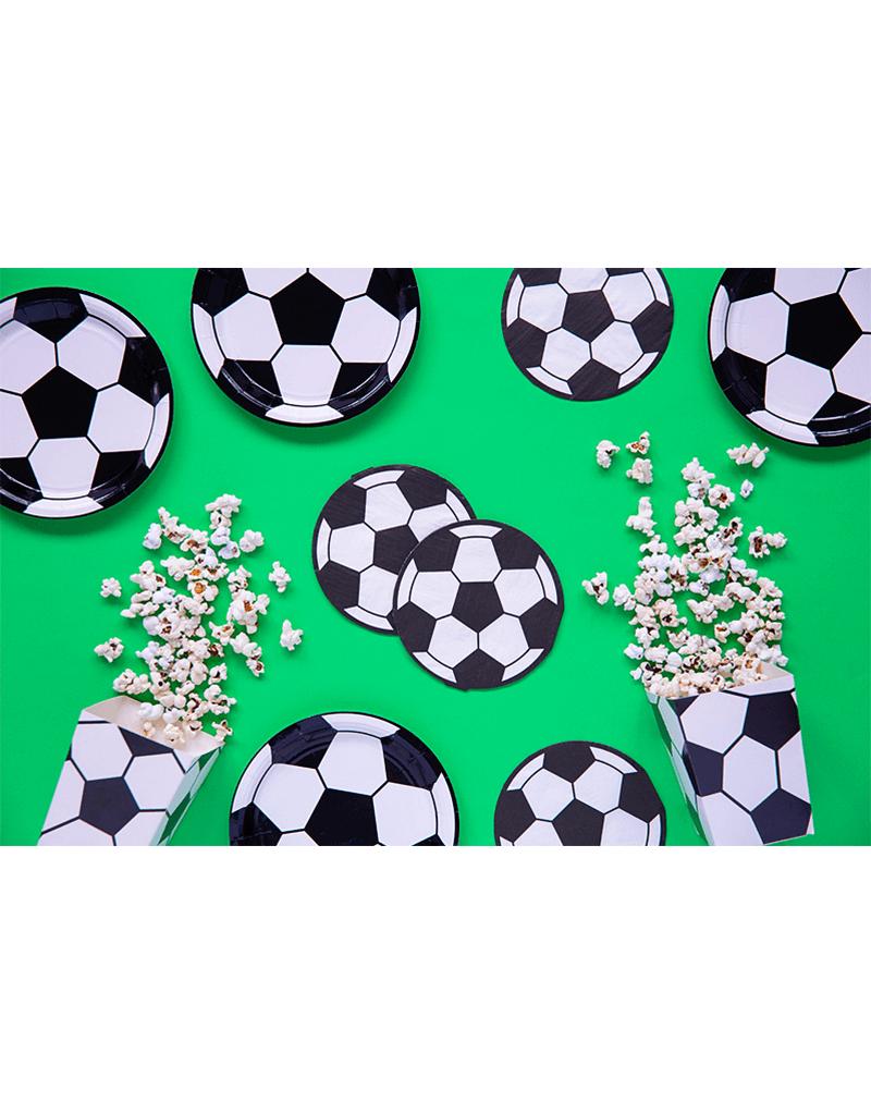 PartyDeco Popcorn bakjes voetbal   6 stuks