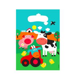 Amscan Uitdeelzakjes boerderij dieren | 8st