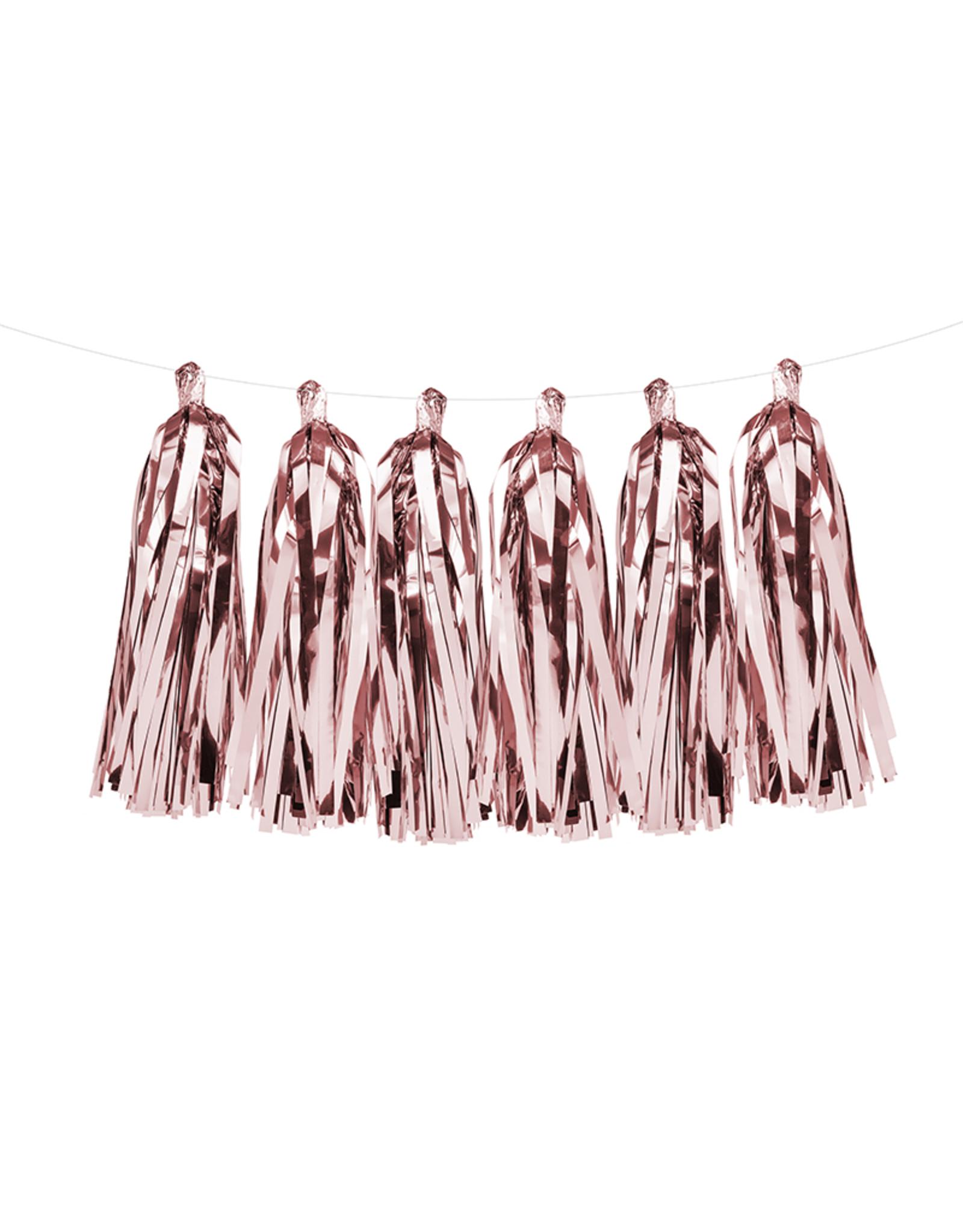 PartyDeco Tassel slinger rosé goud | 2 meter