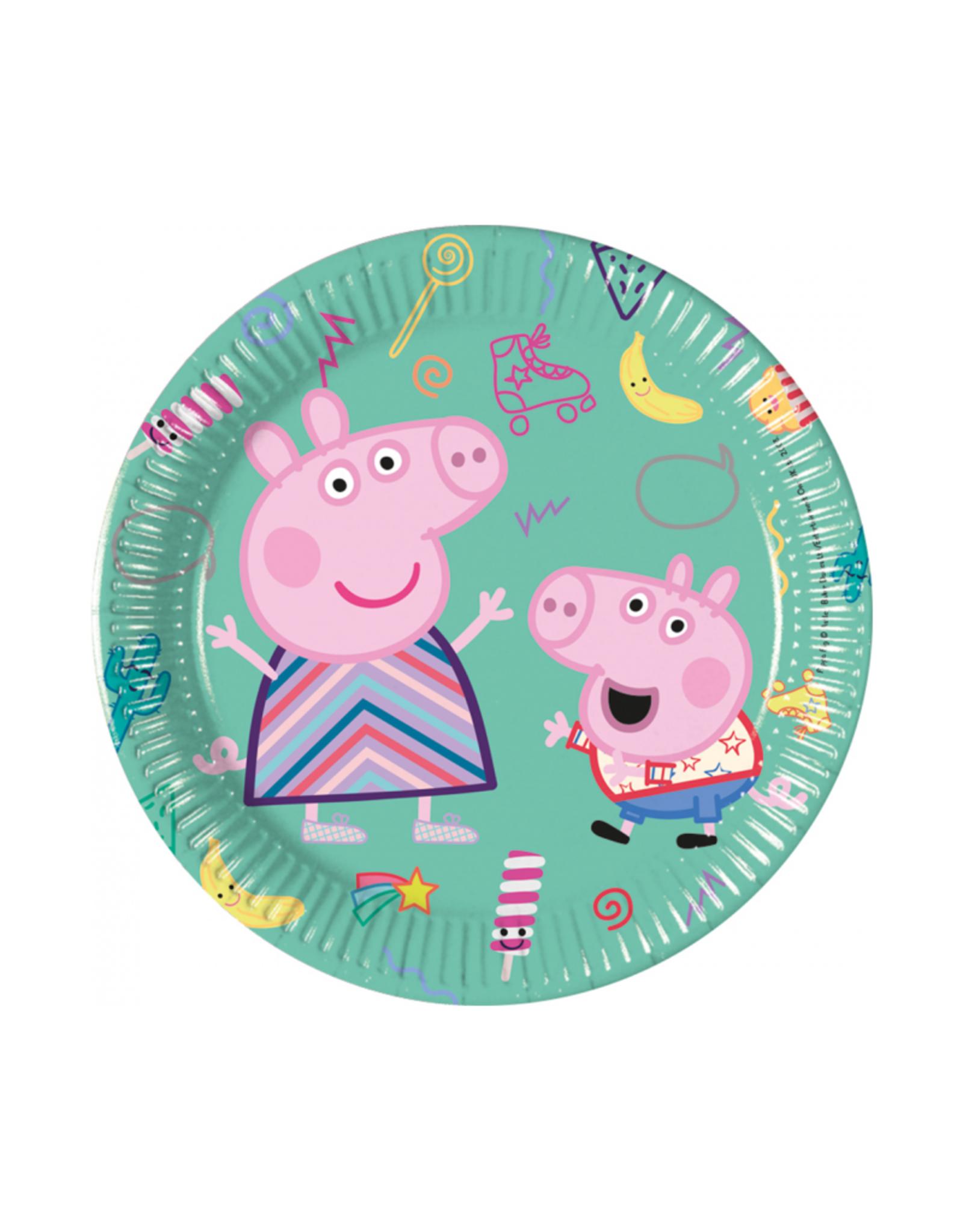 Papieren bordjes Peppa Pig | 8st