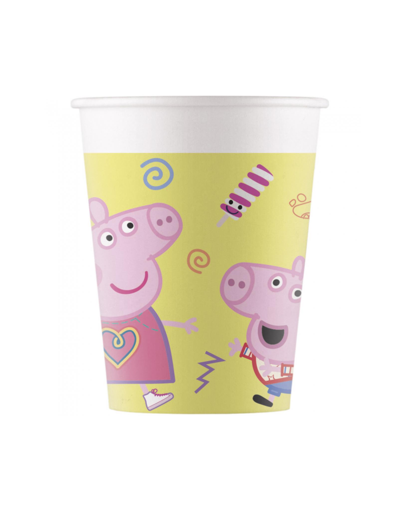 Papieren bekertjes Peppa Pig | 8st