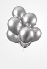 Chrome ballonnen zilver (30 cm) | 10st