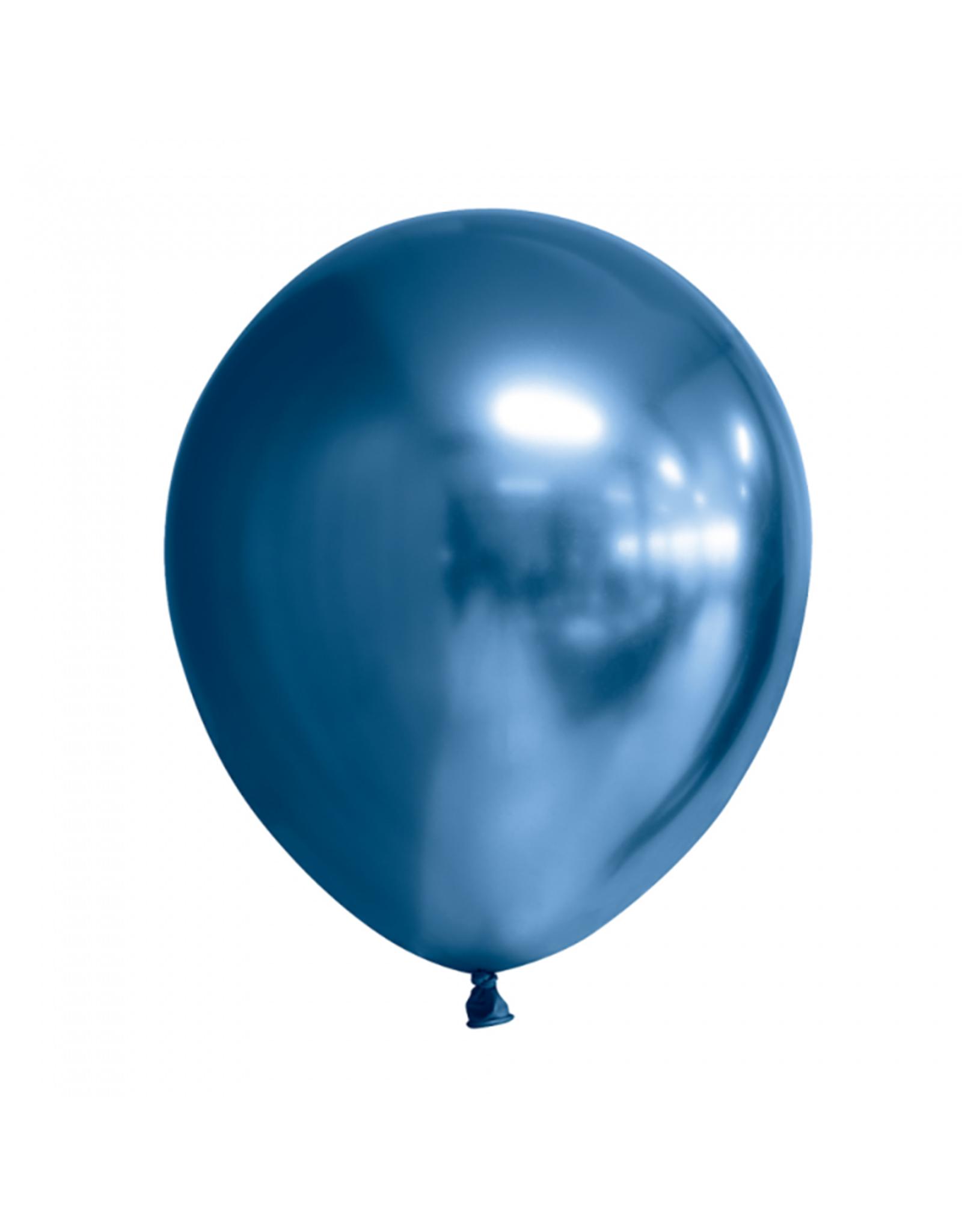 Chrome ballonnen blauw (30 cm) | 10st