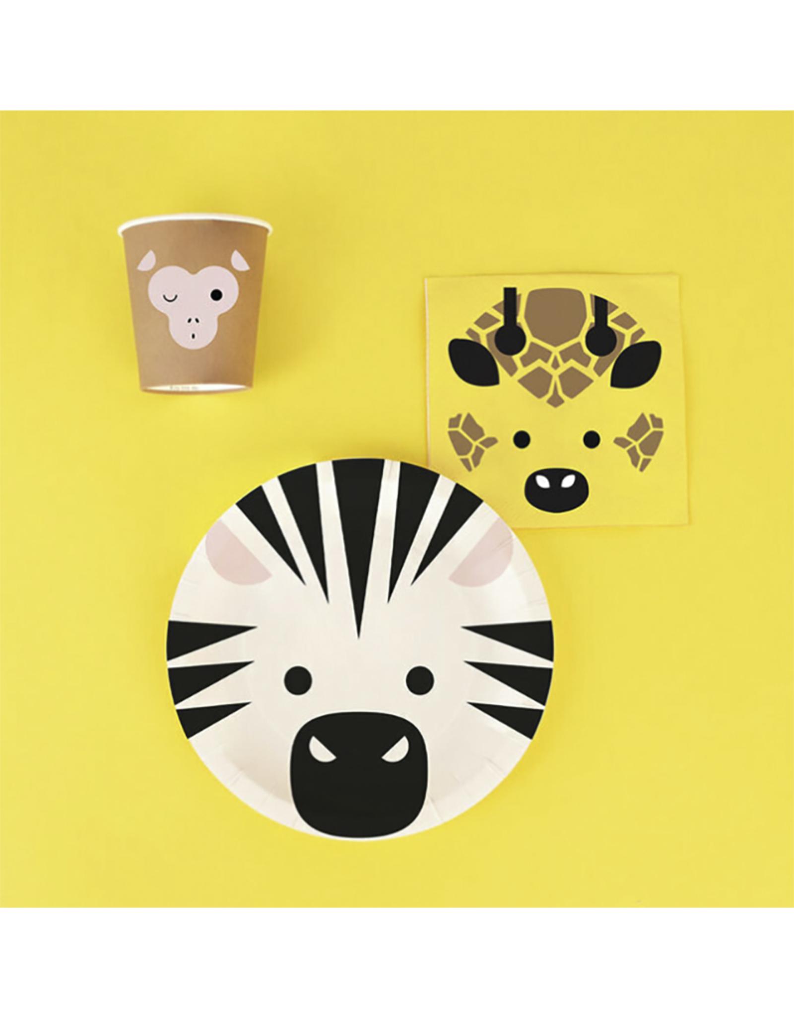 My Little Day Papieren bordjes safari dieren | 8st