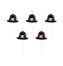 PartyDeco Kaarsjes piratenhoed | 5st