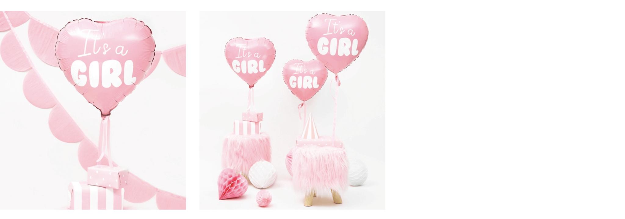 It's a girl versiering roze ballon