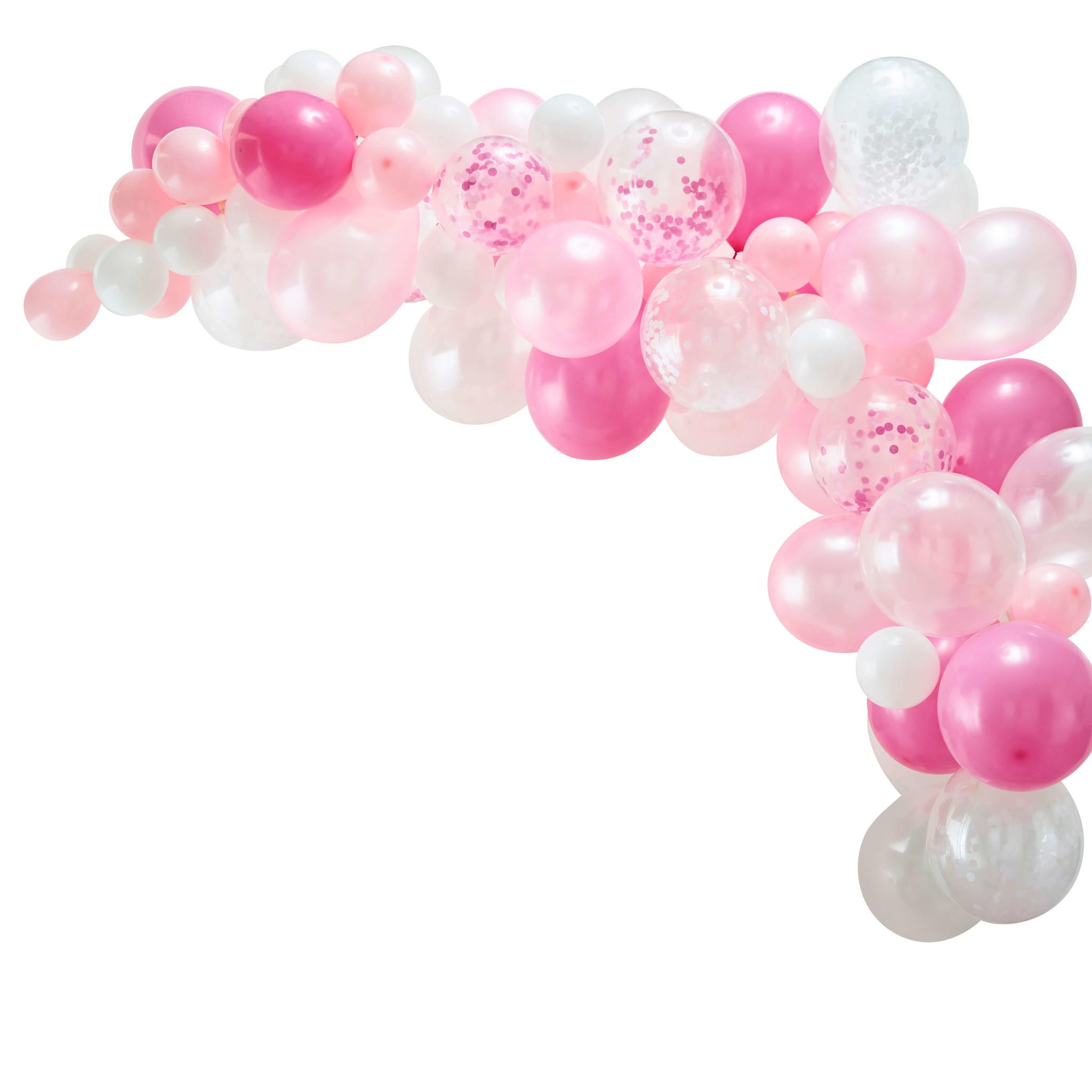 Roze balonnenboog