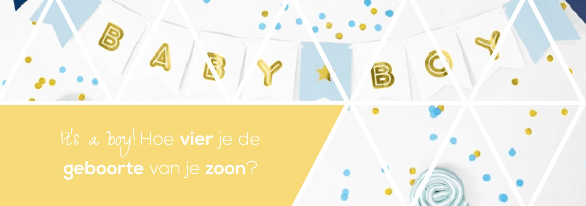 It's a boy! Tips voor het organiseren van een babyborrel of kraamfeest