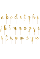 PartyDeco Taart toppers alfabet A-Z | 53 stuks