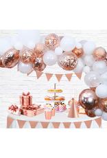 Ballonnenboog rosé goud DIY