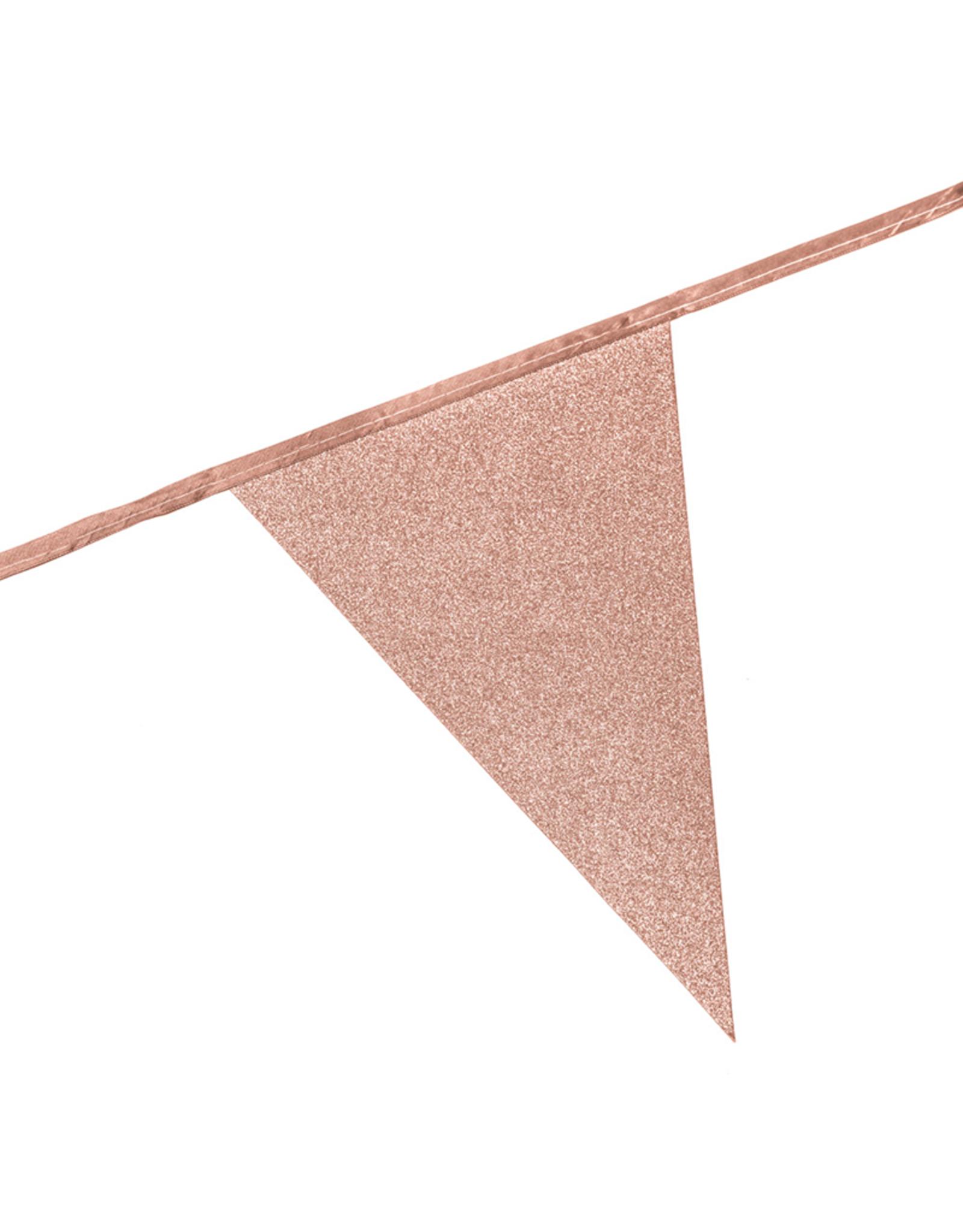 Glitterslinger rosé goud | 6 meter