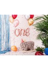 PartyDeco Folie ballon 'ONE' rosé goud