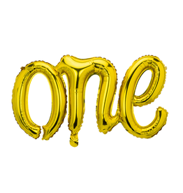 PartyDeco Folie ballon 'ONE' goud