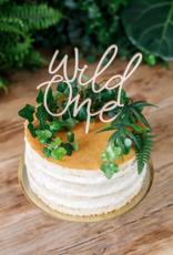 PartyDeco Houten topper 'Wild One'