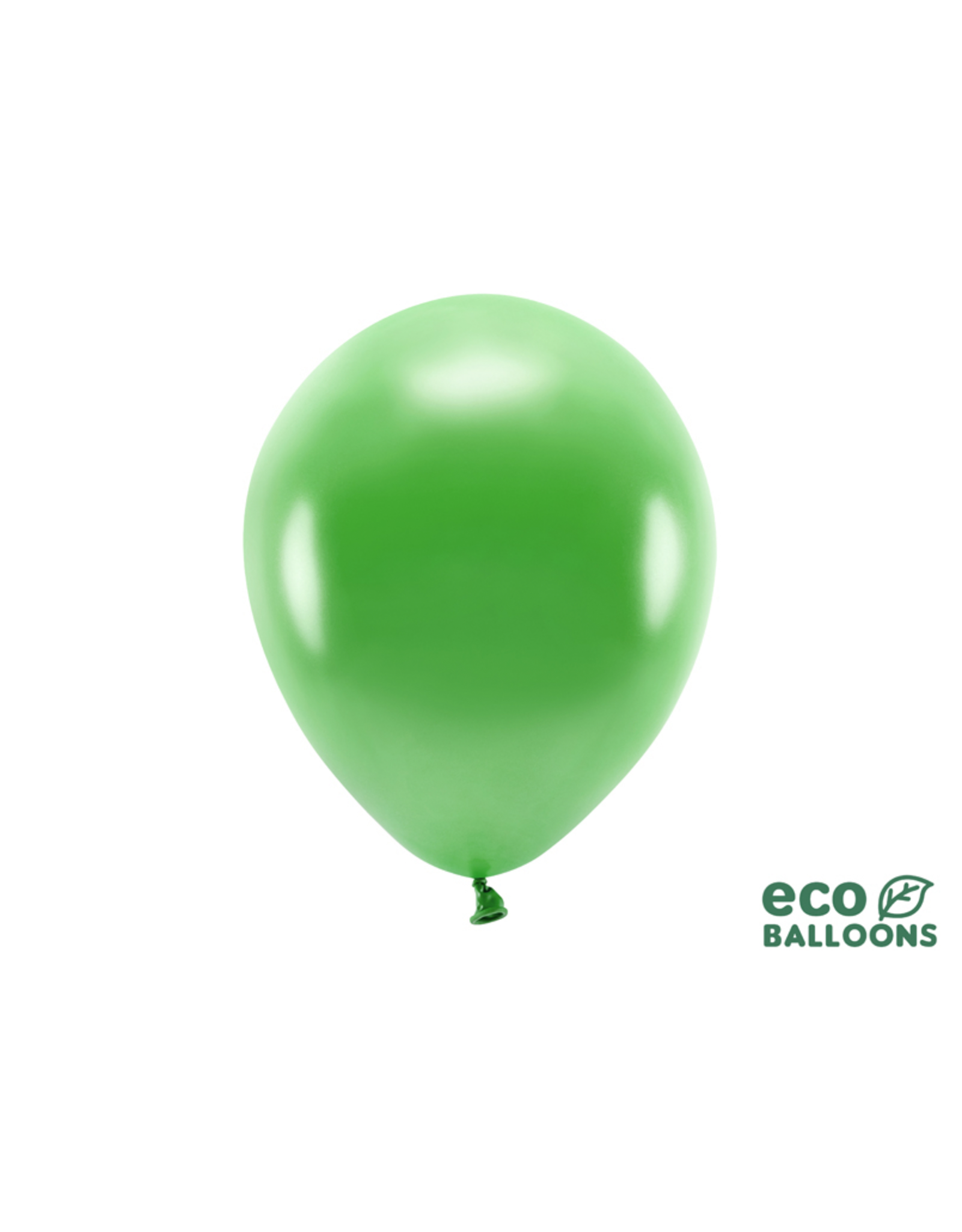 PartyDeco Ballonnen metallic green grass (30 cm) | 10st