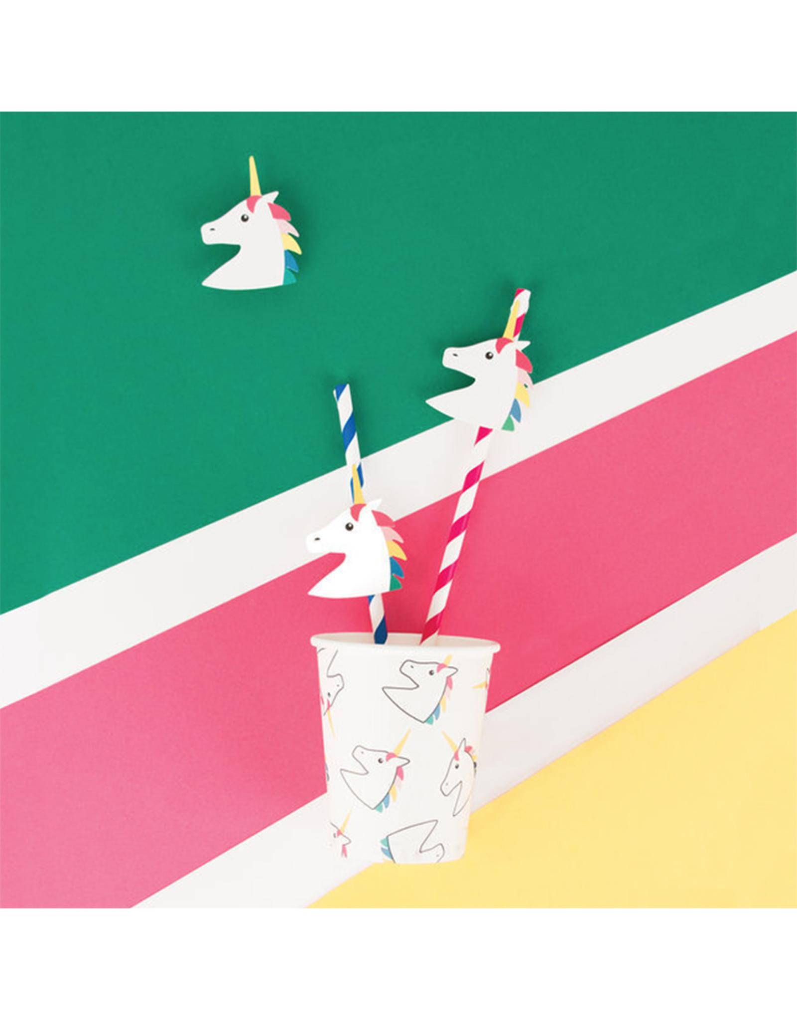 My Little Day Papieren unicorn rietjes   12 stuks