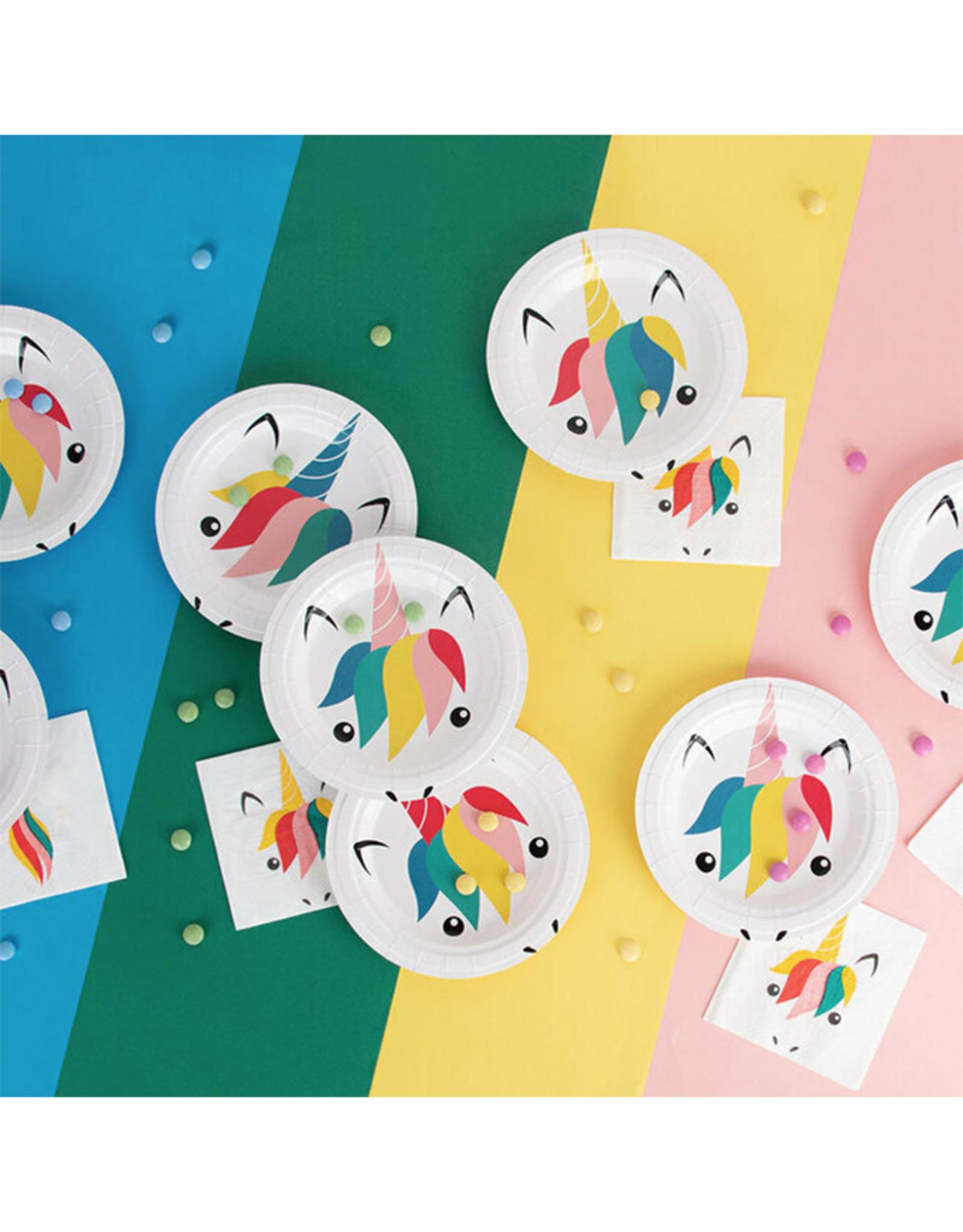 My Little Day Papieren bordjes unicorn print | 8 stuks