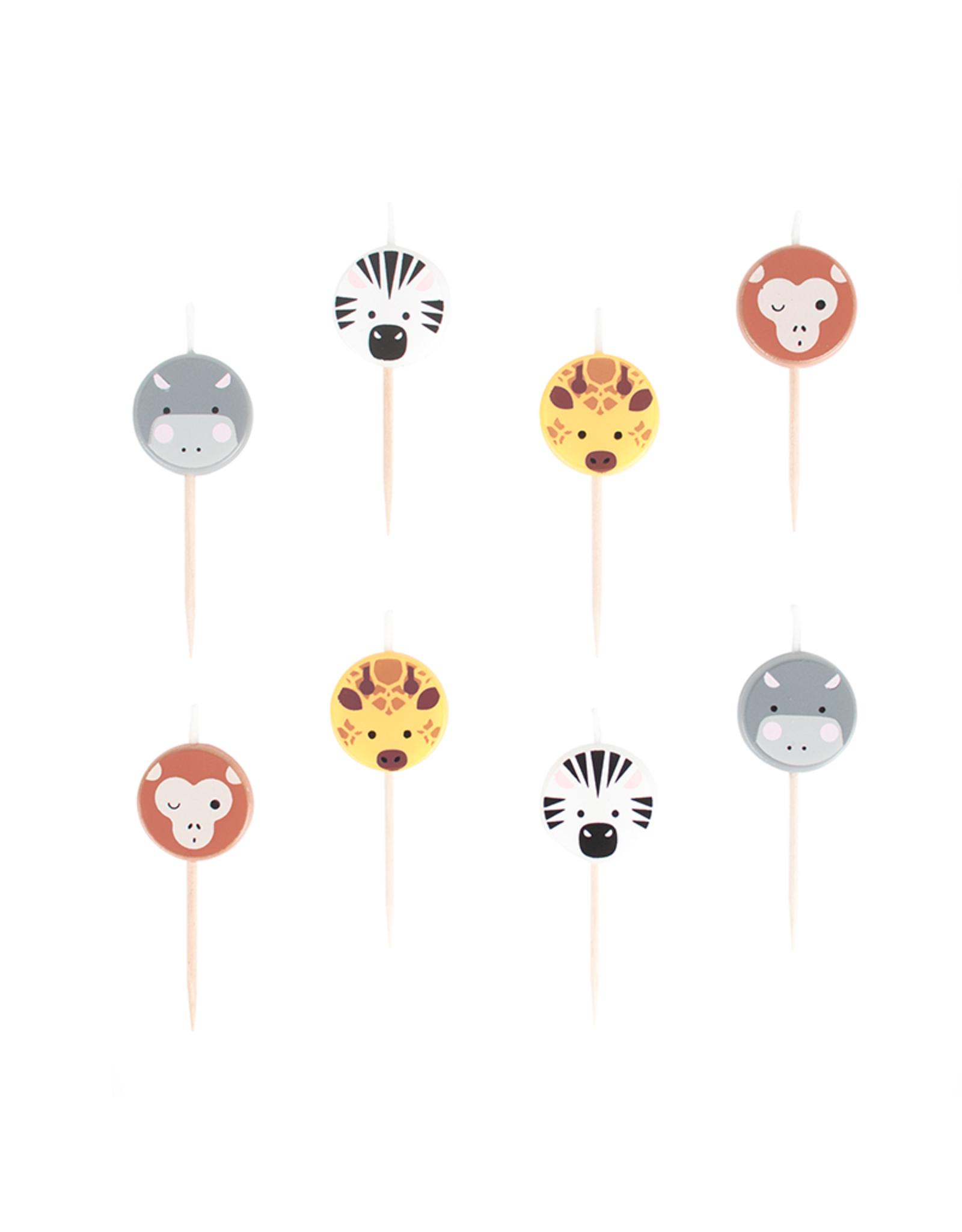 My Little Day Kaarsjes safari dieren   8 stuks