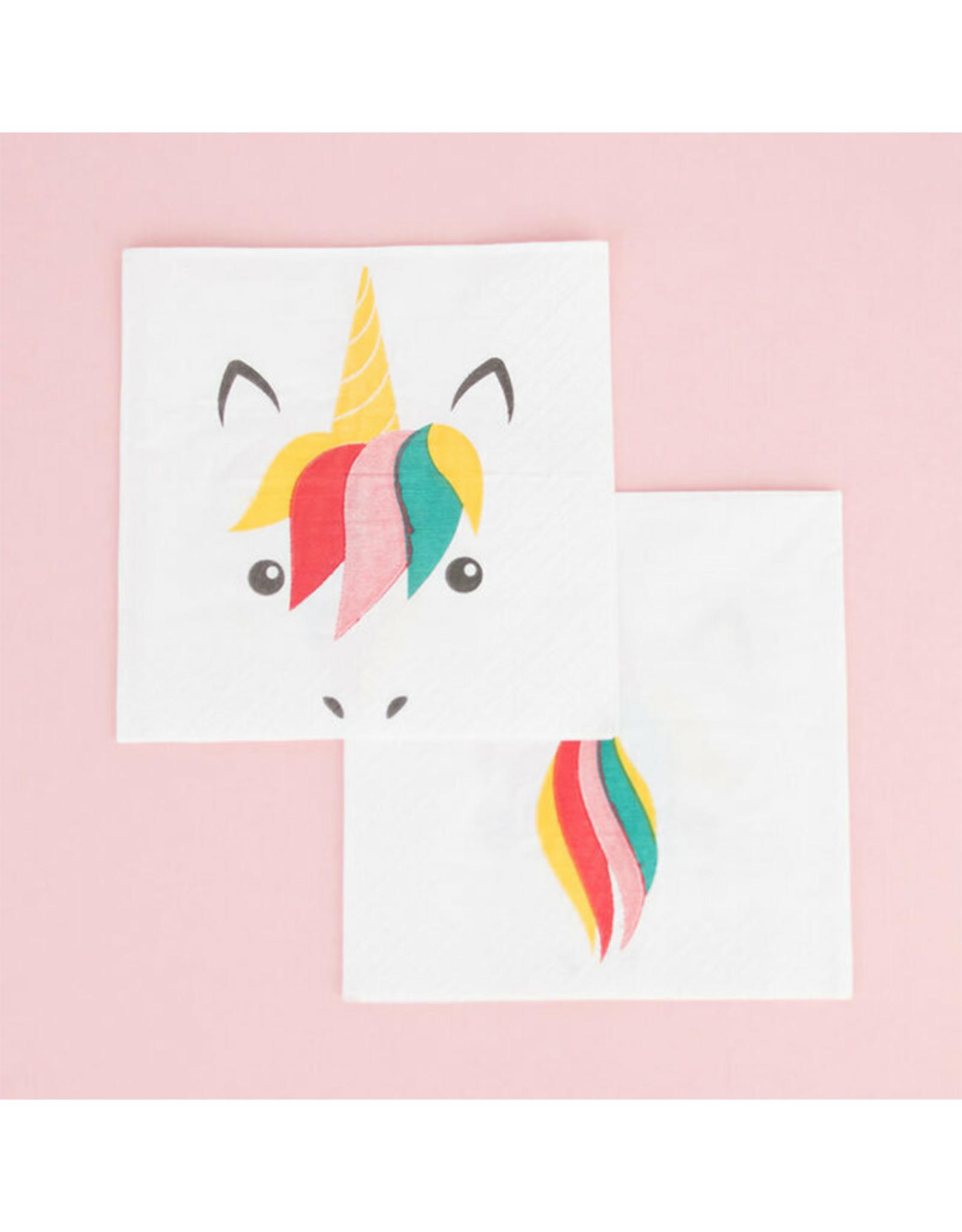 My Little Day Servetten unicorn print | 20 stuks