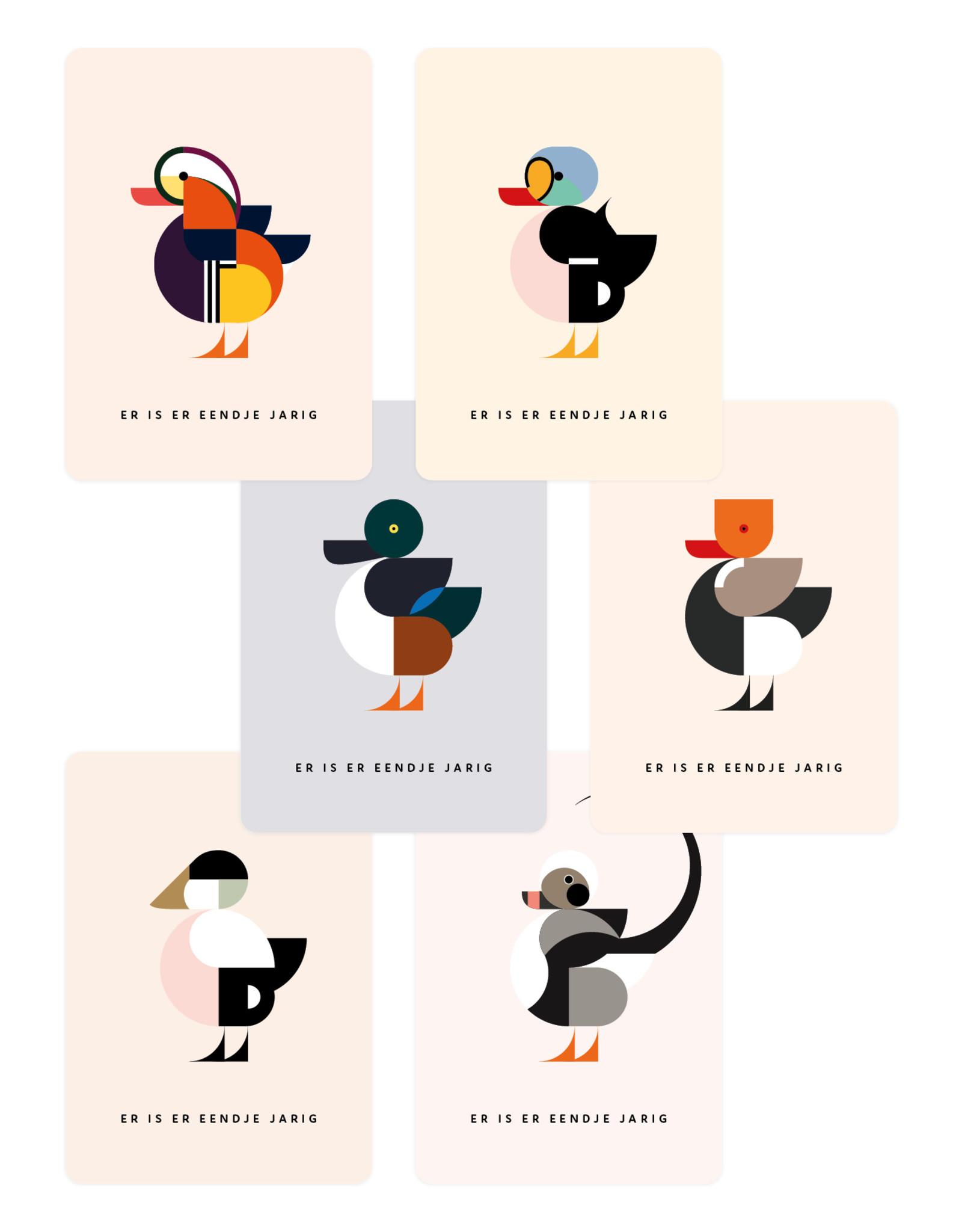 Eendje Set verjaardagskaarten | 6 stuks