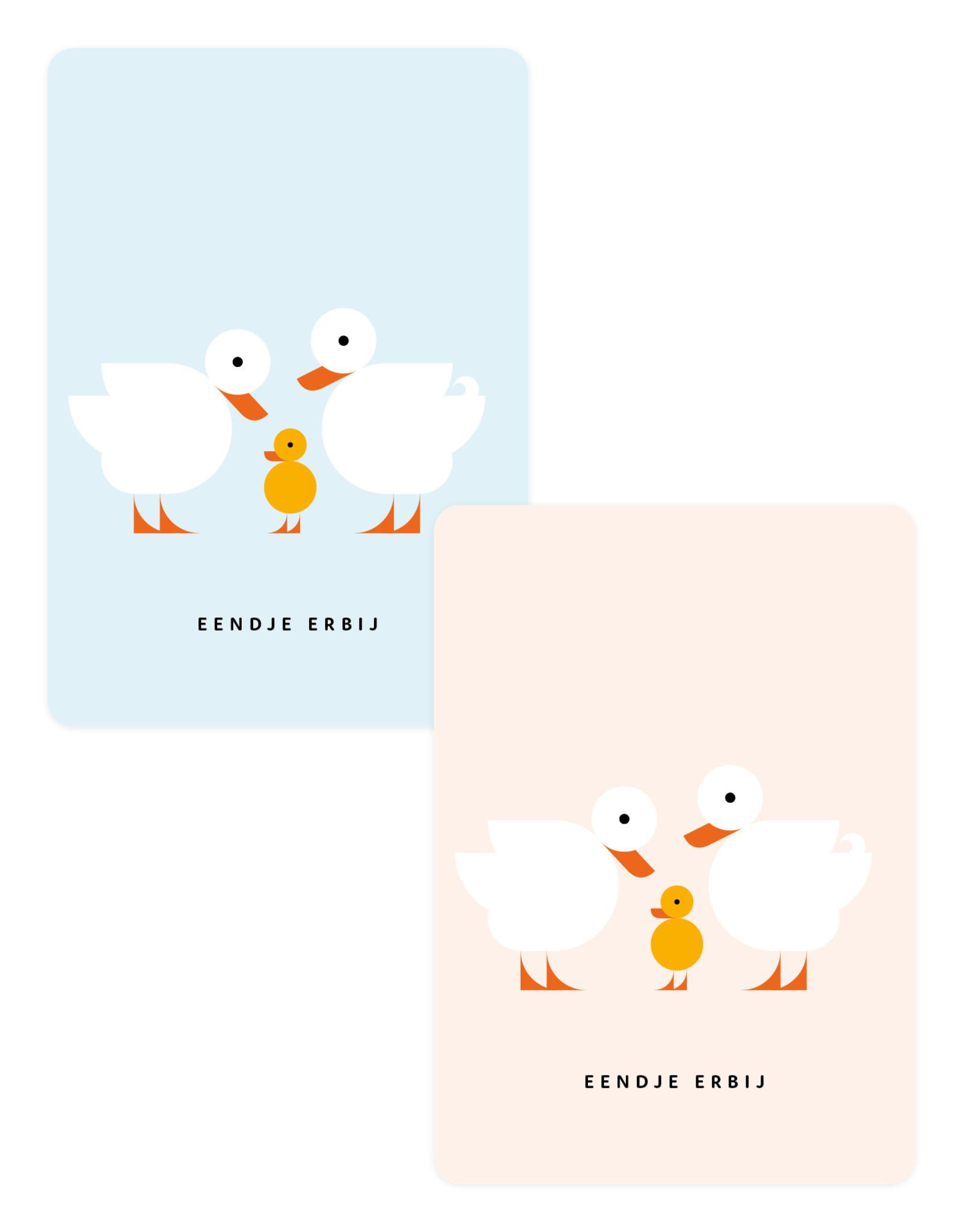 Eendje Set geboortekaarten | 6 stuks