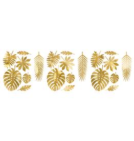 PartyDeco Decoratiebladeren goud | 21st